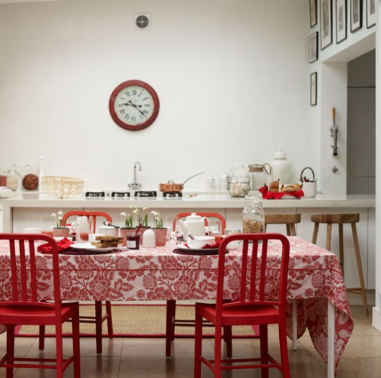 Modern red kitchen-diner | Open-plan decorating ideas | housetohome.