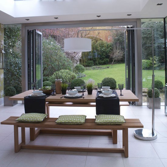 Garden room dining area modern dining room ideas for Designs for garden rooms