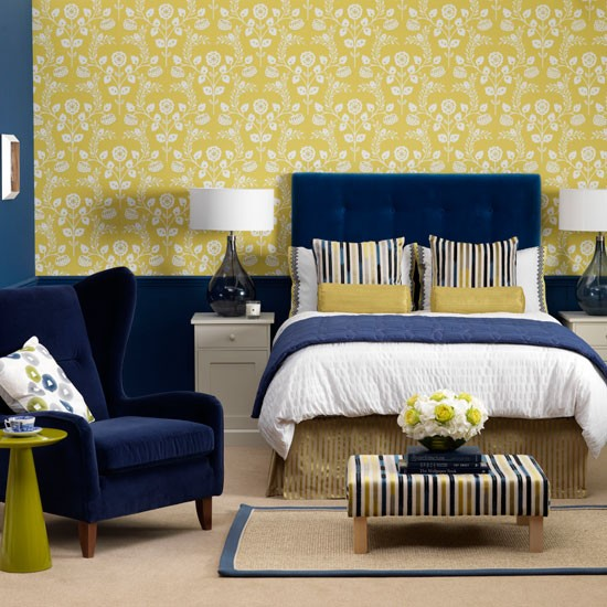 Yellow hotel-style bedroom | Modern bedroom ideas | Ideal Home | Housetohome