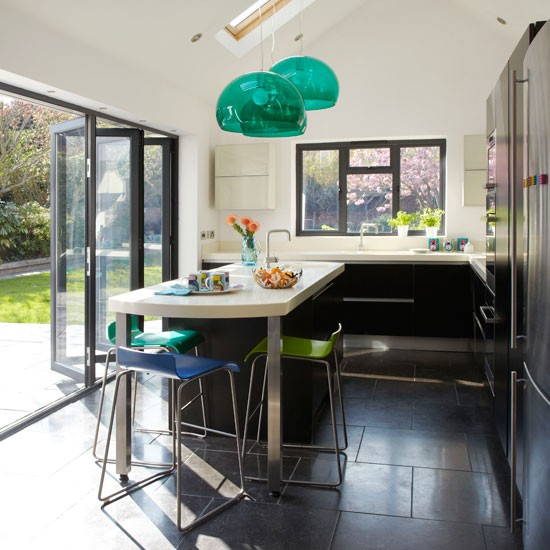 Matt black kitchen extension modern kitchen planning for Kitchen ideas extension
