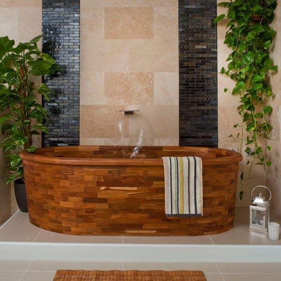 Spa-style wood bathroom | Bathroom decorating ideas | housetohome.