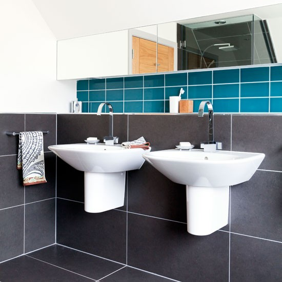 Modern His-and-Hers bathroom | Bathroom decorating ideas | Ideal Home | Housetohome