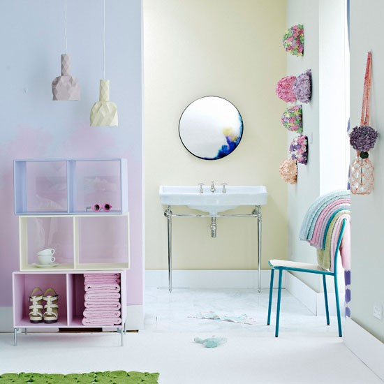 Creative pastel bathroom | Modern bathroom ideas | Livingetc | Housetohome