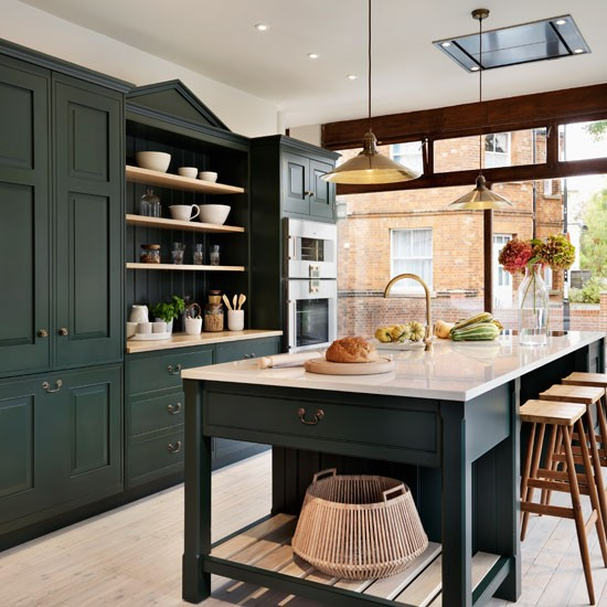 Green Kitchen Units Sage Green Paint Colors For Kitchen: Painted Kitchen Design Ideas