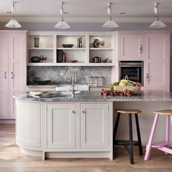 Top 20: Cocinas en Color Rosa
