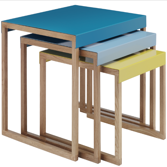 kilo nest of tables from habitat nests of tables. Black Bedroom Furniture Sets. Home Design Ideas