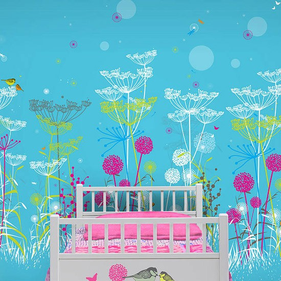 The Lost Garden WallScene Wallpaper by Funky Little ...
