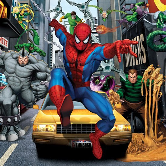 Spider sense spiderman wallpaper by walltastic children s wallpapers