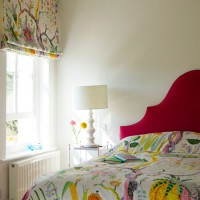 Colourful Scandi-style bedroom