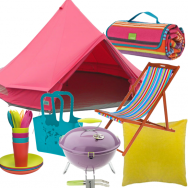 Colourful camping