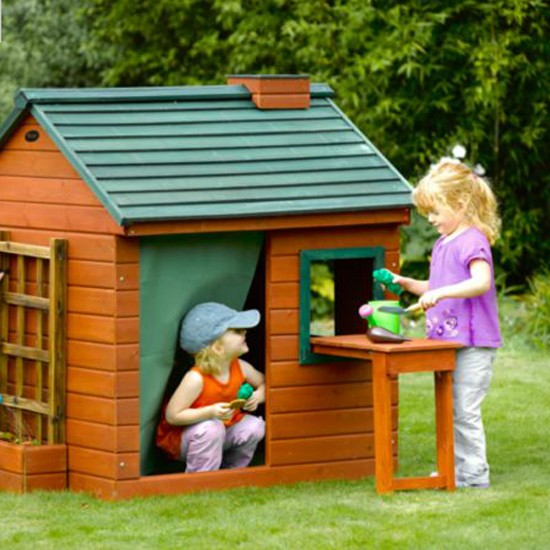 Plum little gardener 39 s cottage wooden outdoor play house for Childrens play house