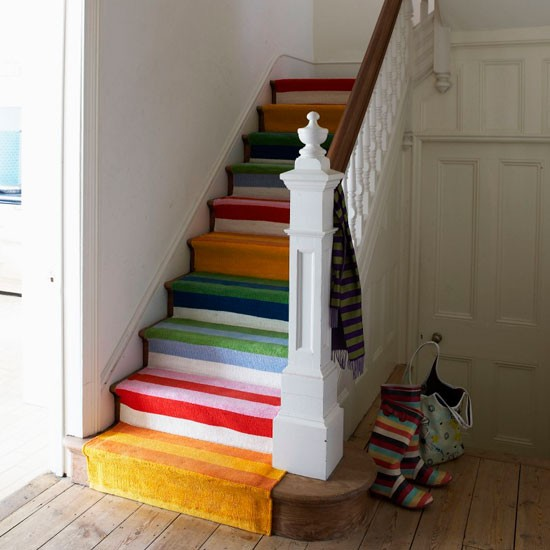 Colourful Runner Staircase Design Ideas
