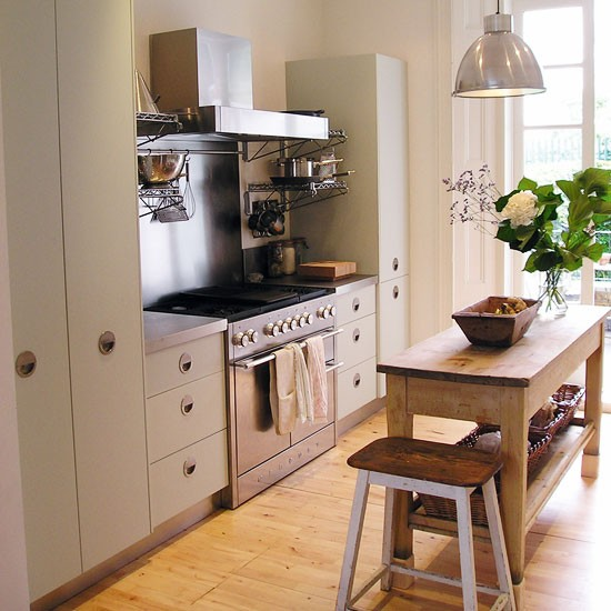 Additional workspace for Small kitchen designs uk