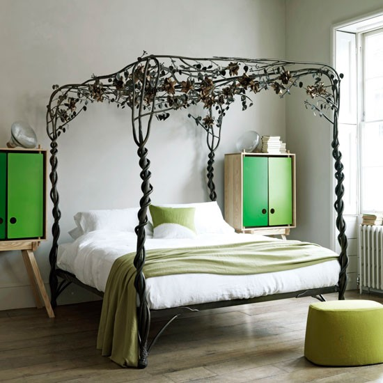 How to create a romantic canopy inspired headboard the decor - Secret Garden Bedroom Modern Bedroom Design Ideas