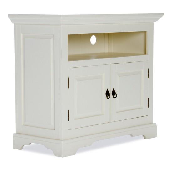 Tv unit white wood