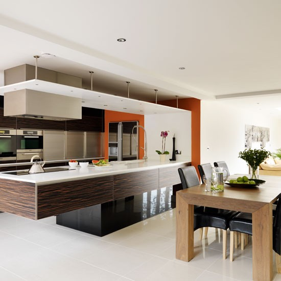 Ebony veneer and white kitchen | Contemporary kitchen tour | PHOTO GALLERY | Beautiful Kitchens | Housetohome.co.uk