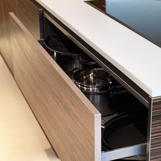 Handleless drawers | Contemporary kitchen tour | PHOTO GALLERY | Beautiful Kitchens | Housetohome.co.uk