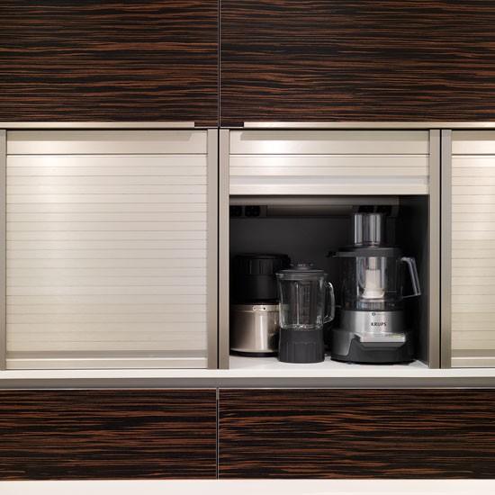 Tambour storage | Contemporary kitchen tour | PHOTO GALLERY | Beautiful Kitchens | Housetohome.co.uk