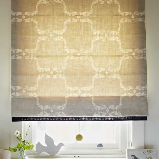 Choose an oversized pattern in a natural shade for impact.