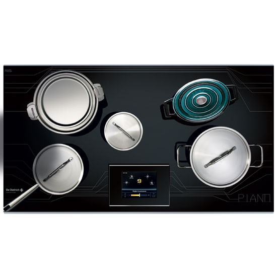 piano induction hob from de dietrich kitchen appliances for country cooks. Black Bedroom Furniture Sets. Home Design Ideas