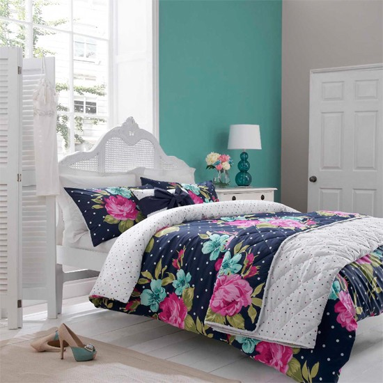 The new Bethany design features bold florals and polka dots