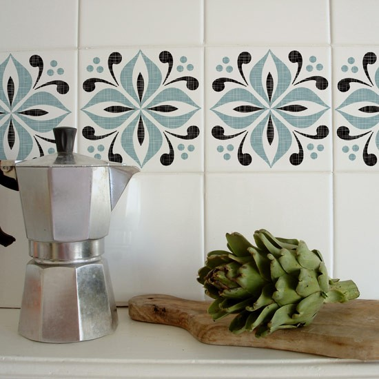 Cover Up Boring Wall Tiles Decorate A Rented Space 10