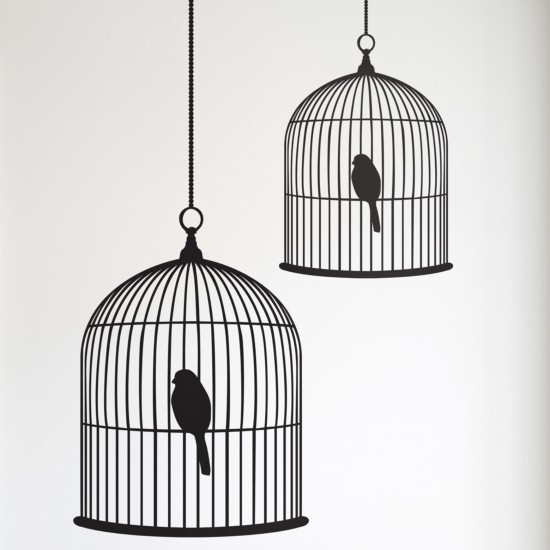 birdcage wall stickers from all tidied up wall stickers