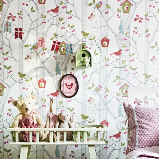 We love this new childrens wallpaper design from Scandi Living