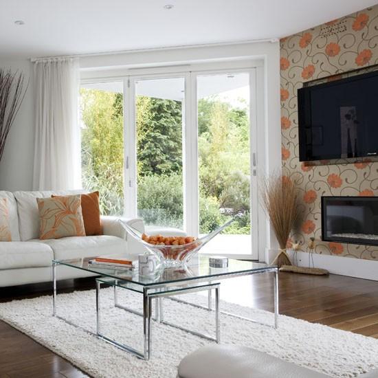 Living room wallpaper ideas housetohome modern feature wall living