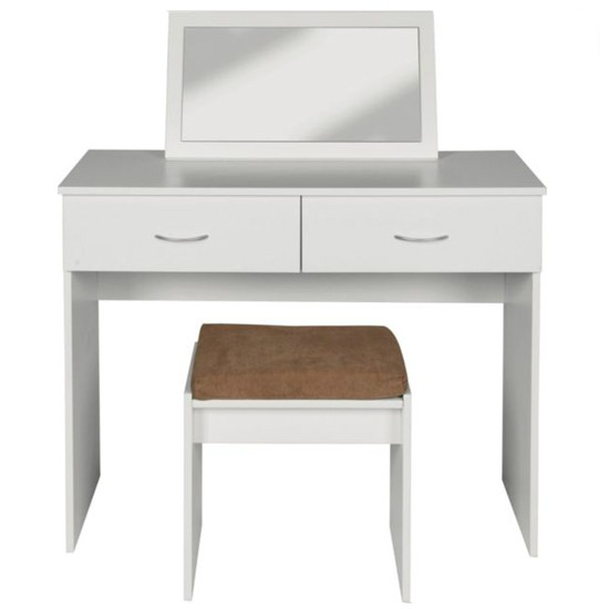 Impressions dressing table stool and mirror from argos for Cheap dressing table with mirror