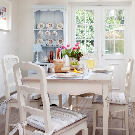 Cream and pale blue country kitchen | Country design ideas | 25 Beautiful Homes | Housetohome