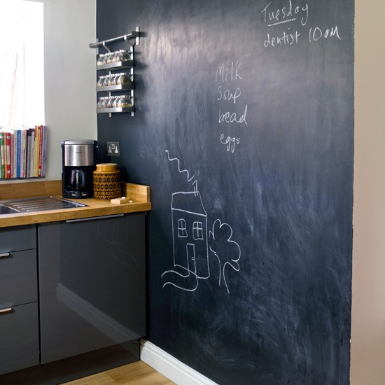 blackboard kitchen wall easy kitchen transformations
