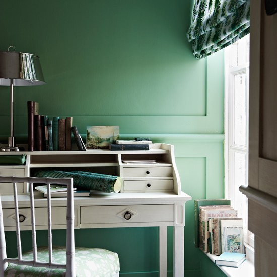 Refreshing green home office | Modern decorating ideas | Homes & Gardens | Housetohome