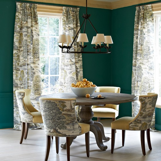 dark green dining room traditional toile dining room modern decorating