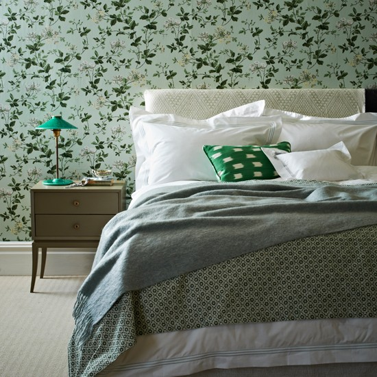 Mint Green Floral Bedroom Modern Decorating Ideas