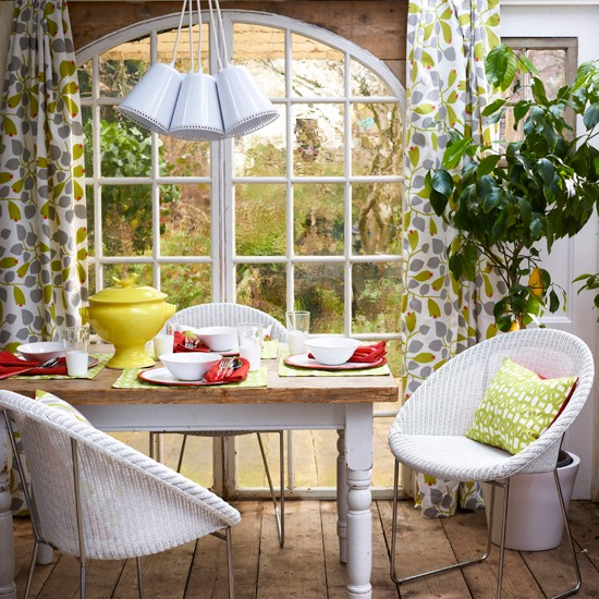 vibrant garden dining room modern decorating ideas
