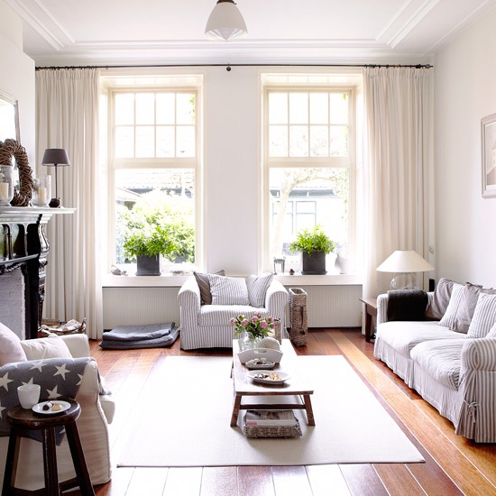 Coastal-inspired living room | Coastal decorating ideas | housetohome.