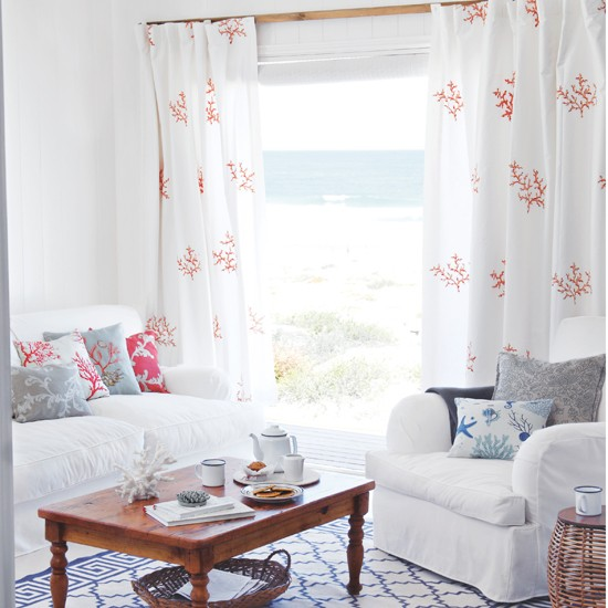 White seaside living room | Coastal decorating ideas | Country Homes & Interiors | Housetohome