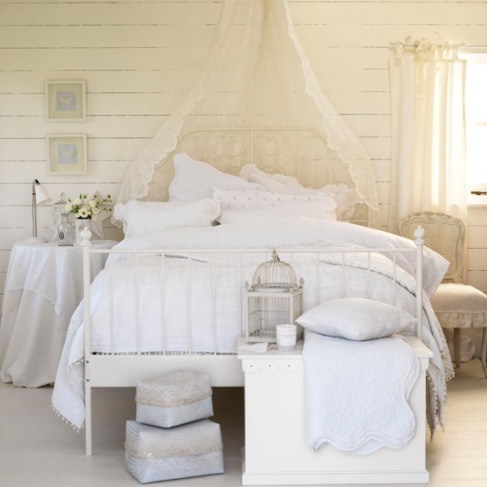 Textured white bedroom | Country decorating ideas | Ideal Home | Housetohome