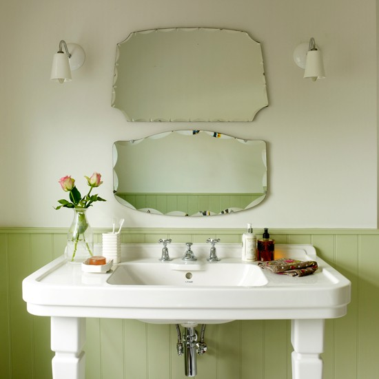 green vintage bathroom country decorating ideas