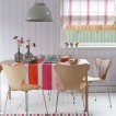 Playful striped dining room