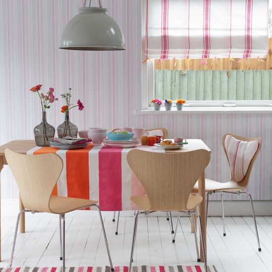 Playful striped dining room | Country decorating ideas | Country Homes & Interiors | Housetohome
