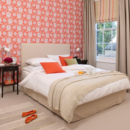 Coral floral bedroom | Modern decorating ideas | Style at Home | Housetohome