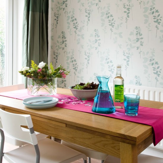 Modern floral dining room | Kitchen decorating ideas | Style at Home | Housetohome