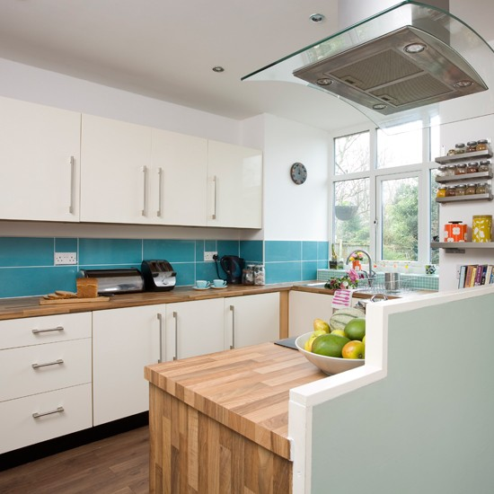 Fresh aqua kitchen  Kitchen decorating ideas  Style at Home