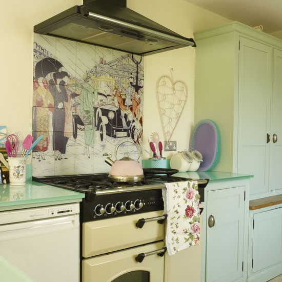 Pretty pastel country kitchen  Contemporary country decorating ideas