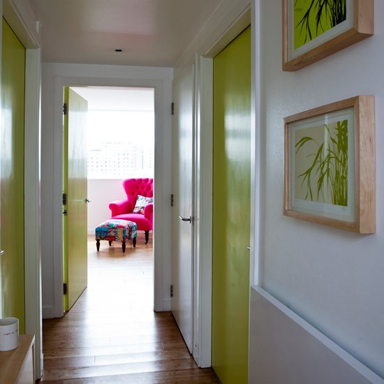 Jazz up internal doors hallway decorating ideas for Painted interior door designs