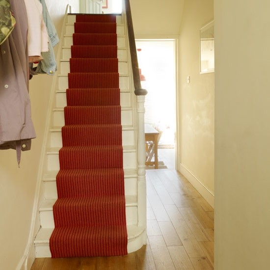 Fit a colourful stair runner | Hallway | Hall ideas | PHOTO GALLERY | Style at Home | Housetohome.co.uk
