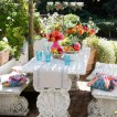 Pretty garden dining area