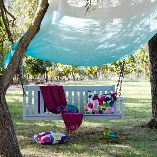 Garden swing seat with canopy | Outdoor living | Garden | Design | PHOTO GALLERY | Housetohome.co.uk